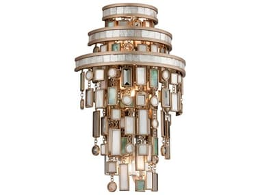 Corbett Lighting Dolcetti Dolcetti Silver Three-Light 10'' Wide Wall Sconce CT14213