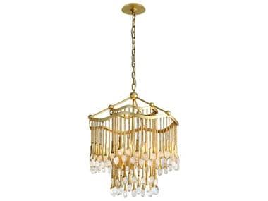 Corbett Lighting Kiara Gold Leaf Six-Light 23'' Wide Glass Mini Chandelier CT28606