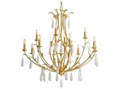 Corbett Lighting Prosecco Gold Leaf 12-Light 46'' Wide Glass Large Chandelier CT293012