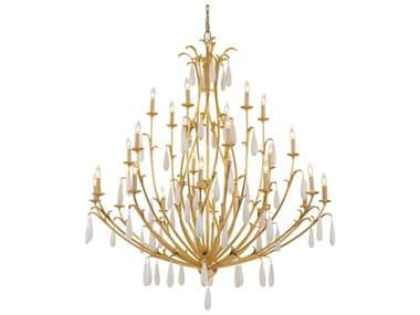 Corbett Lighting Prosecco Gold Leaf 24-Light 60'' Wide Glass Large Chandelier CT293724