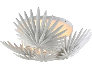 Corbett Lighting Savvy Gesso White Three-Light 22'' Wide Semi-Flush Mount CT31033