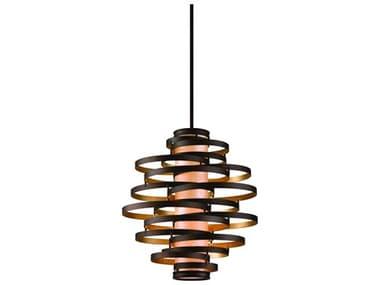 Corbett Lighting Vertigo Bronze / Gold Leaf Four-Light 30'' Wide Incandescent Pendant Light CT11344