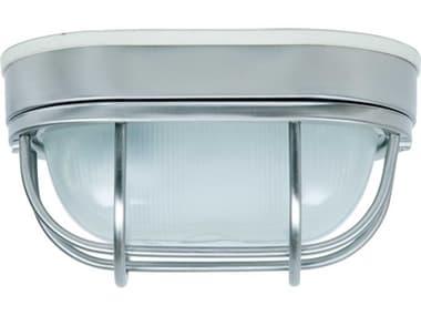 Craftmade Bulkhead Stainless Steel Industrial Outdoor Ceiling Light CMZ396SS