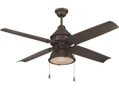 Craftmade Port Arbor Espresso 52 Inch Wide Ceiling Fan with Clear Halophane Glass CMPAR52ESP4