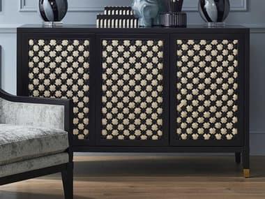 Currey & Company Bramford Caviar Black / Ivory Bar Cabinet CY30000178