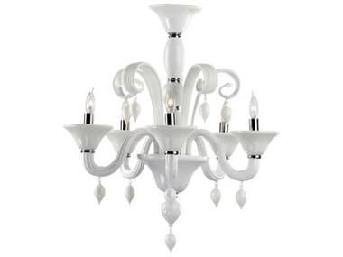 Cyan Design Treviso Chrome & White Five-Light 24'' Wide Chandelier C36496514