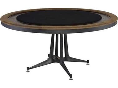 District Eight Smoked / Black Game Table D8HGDA776