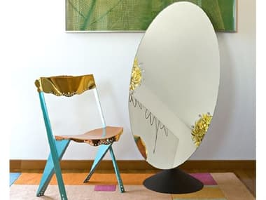 Driade Psiche By Philippe Starck 50.7'' x 29.9 Oval Mirror / Table DRH8926136