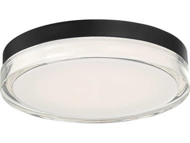 dweLED by WAC Lighting Dot Black 1-light 12'' Wide LED Flush Mount Light DWLFMW57812BK