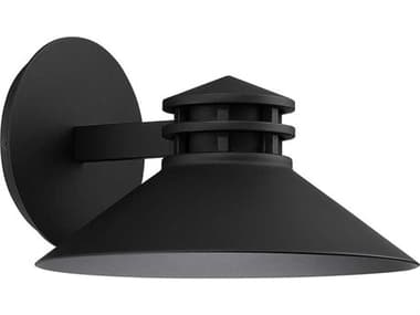 dweLED by WAC Lighting Sodor Black 1-light 11'' Wide LED Outdoor Wall Light DWLWSW15710BK