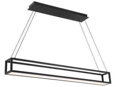 dweLED by WAC Lighting Trick Box Black 1-light 47'' Wide LED Island Light DWLPD31947BK