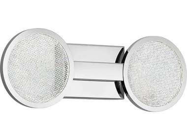 Elan Delaine Chrome 2-light Crystal LED Vanity Light ELA85062CH