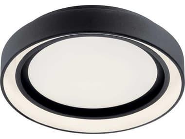 Elan Fornello Matte Black 14'' Wide LED Flush Mount Light ELA84157