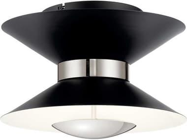 Elan Kordan Matte Black 14'' Wide LED Flush Mount Light ELA84132