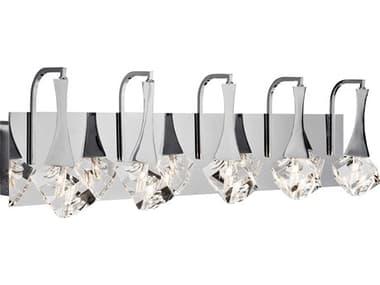 Elan Rockne Chrome Five-Light 32'' Wide LED Wall Sconce ELA83777