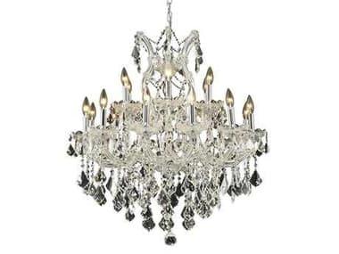 Elegant Lighting Maria Theresa Royal Cut Chrome & Crystal 19-Light 30'' Wide Chandelier EG2800D30C