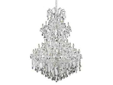 Elegant Lighting Maria Theresa Royal Cut Chrome & Crystal 61-Light 54'' Wide Grand Chandelier EG2800G54C
