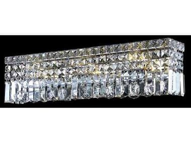 Elegant Lighting Maxim Royal Cut Chrome & Crystal Four-Light Vanity Light EG2032W18C