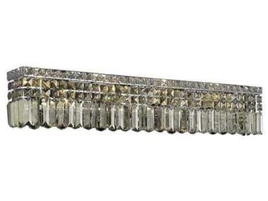 Elegant Lighting Maxim Royal Cut Chrome & Golden Teak Eight-Light Vanity Light EG2032W36CGT