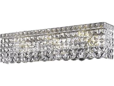 Elegant Lighting Maxim Royal Cut Chrome & Crystal Four-Light Vanity Light EG2033W18C