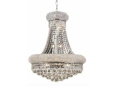Elegant Lighting Primo Royal Cut Chrome & Crystal 14-Light 20'' Wide Chandelier EG1800D20C