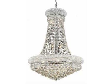 Elegant Lighting Primo Royal Cut Chrome & Crystal 14-Light 28'' Wide Chandelier EG1800D28C