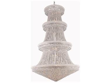 Elegant Lighting Primo Royal Cut Chrome & Crystal 56-Light 62'' Wide Grand Chandelier EG1800G62C