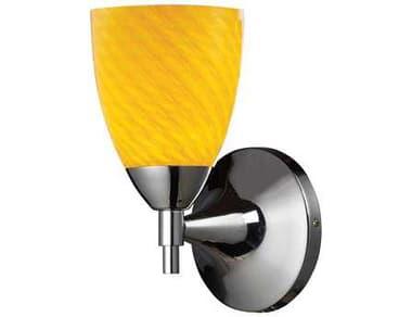 Elk Lighting Celina Polished Chrome with Canary Glass Wall Sconce EK101501PCCN