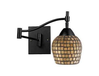 Elk Lighting Celina Dark Rust & Gold Leaf Wall Sconce EK101511DRGLD