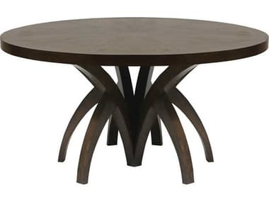 Elk Home Weathered Mahogany 60'' Wide Round Dining Table EK6119001
