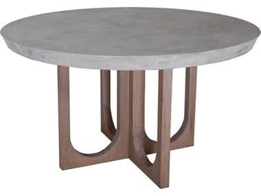 Elk Lighting Innwood Waxed Concrete / Blonde Stain 54'' Wide Round Dining Table EK70111497