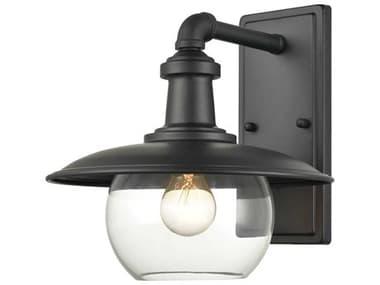 Elk Home Jackson Matte Black 1-light 11'' Wide Glass Industrial Outdoor Wall Light EK454301
