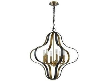 Elk Lighting Janis Aged Bronze / Brass 27'' Wide Medium Chandelier EK331646