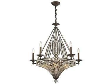Elk Lighting Jausten Antique Bronze Ten-Light 30'' Wide Chandelier EK1178555