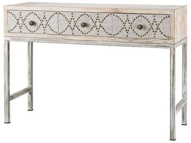 Elk Home Driftwood Grey / Natural Linen Secretary Desk EK3183016