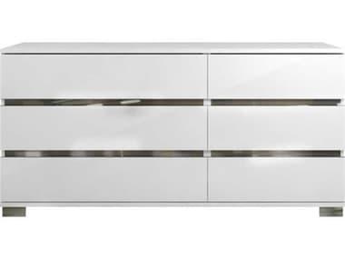 Essential For Living Vivente Icon White High Gloss Acrylic Lacquer 68.5'' x 19'' Six-Drawer Dresser ESL2106WHG