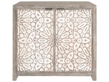 Essentials for Living Lotus Brushed Gray / White Wash Console ESL1861BGMWW