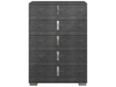 Essential For Living Vivente Noble Grey Birch High Gloss Acrylic Lacquer 36'' x 19'' Five-Drawer Chest of Drawers ESL2125GBHG