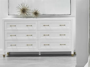 Essentials for Living Traditions Matte White Six-Drawer Double Dresser ESL6136WHTBBRS
