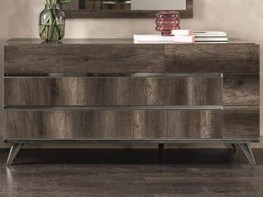 Essentials for Living Vivente Vintage Oak / Chrome Six-Drawers Double Dresser ESL2166VOAK