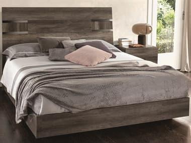 Essentials for Living Vivente Vintage Oak / Chrome Queen Platform Bed ESL2161VOAK
