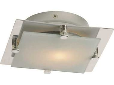 ET2 Piccolo LED Satin Nickel Semi-Flush Mount Light ET2E5383209SN