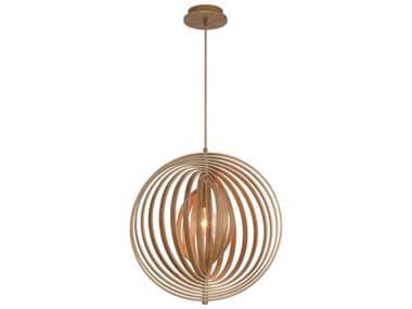 Eurofase Lighting Abruzzo Wood 1-light 19'' Wide Pendant EUL31873017
