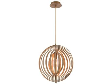 Eurofase Lighting Abruzzo Wood 1-light 17'' Wide Pendant EUL31874014