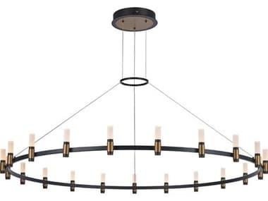 Eurofase Lighting Albany Deep Black / Brass 21-light 59'' Wide LED Large Chandelier EUL37045012
