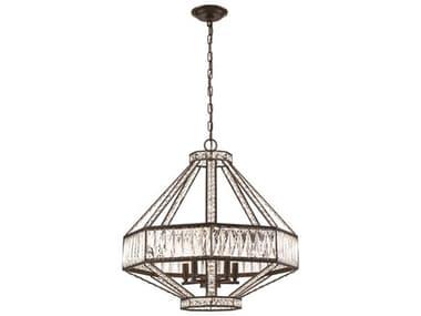 Eurofase Lighting Bellezza Bronze 5-light 23'' Wide Crystal Mini Chandelier EUL31883016