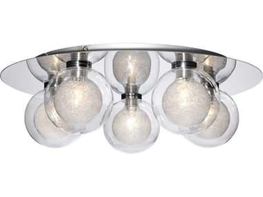 Eurofase Lighting Cambria Chrome 5-light 16'' Wide Flush Mount Light EUL28016014