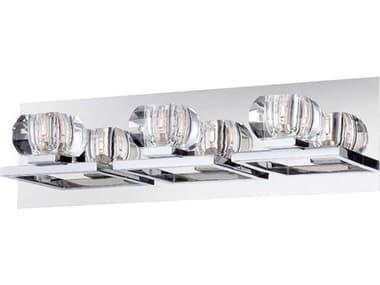 Eurofase Lighting Casa Chrome 3-light Crystal Vanity Light EUL26357010
