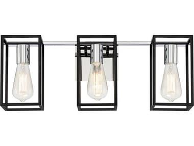 Eurofase Lighting Stafford Chrome / Black 3-light Crystal LED Wall Sconce EUL37116019