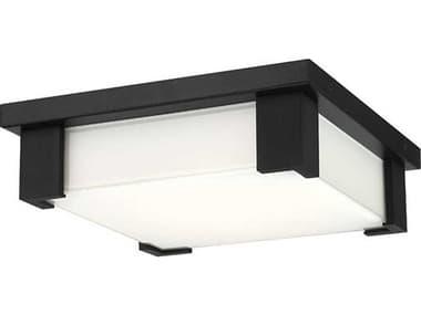 Eurofase Lighting Thornhill Black 1-light Glass LED Outdoor Ceiling Light EUL37075019
